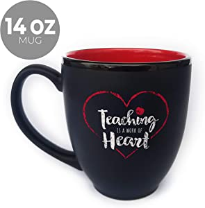 Teaching is a Work of Heart Coffee Mug/Unique gift for teachers and daycares / 16 oz Coffee Mug for Gift