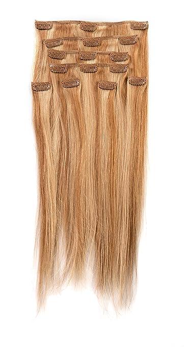 Amazon donna bella full head human clip in hair extensions donna bella full head human clip in hair extensions 16quot length color 27 pmusecretfo Gallery