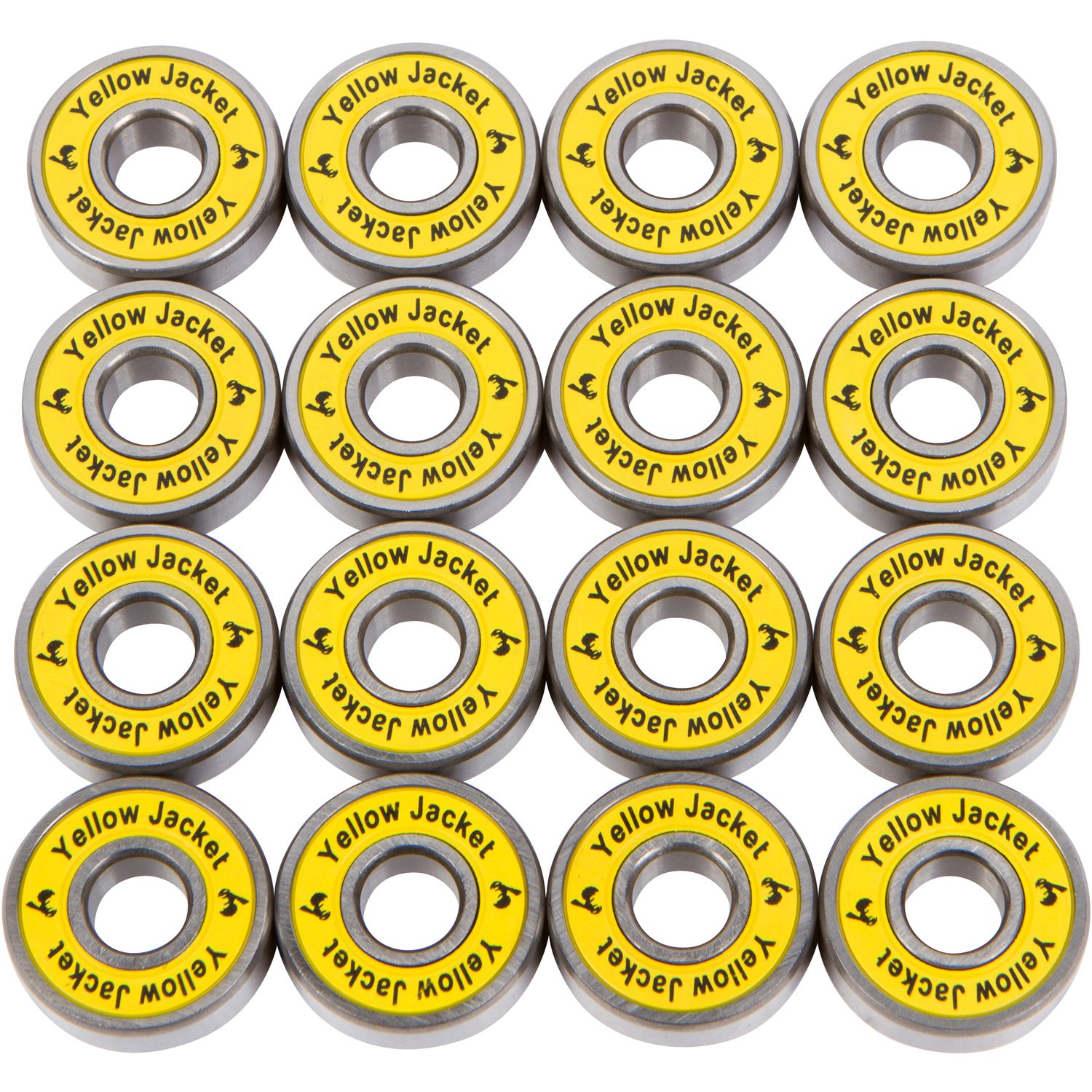 Yellow Jacket Premium Inline Skate Bearings, Roller Skate Bearings, 608, ABEC 11, Yellow Jacket