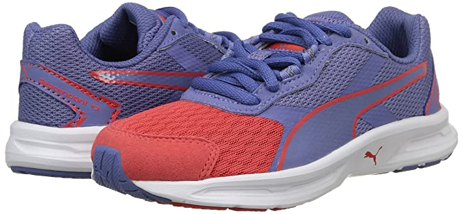 Puma Descendant V3, Jungen Sneakers, Pink (Cayenne/Bleached Denim/Cayenne), 31 EU