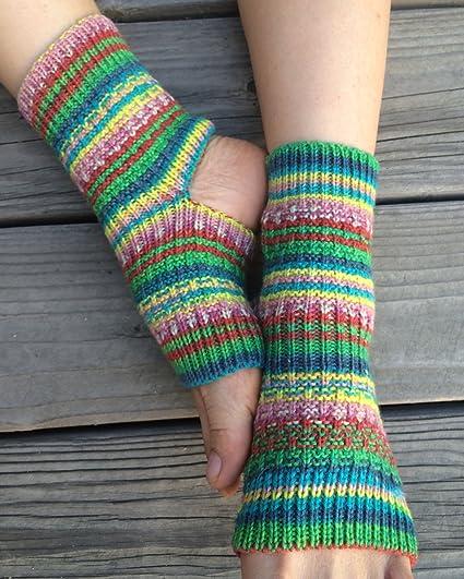 Amazon Hand Knit Yoga Socks Fern Rose Jacquard Sports Outdoors