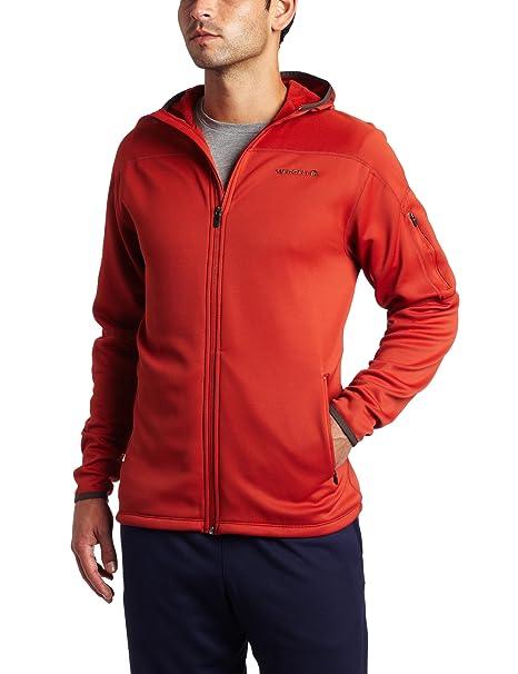 e8f4c4c286 Amazon.com: Merrell Men's Cairn Stretch Fleece Hoody Jacket (Ember ...