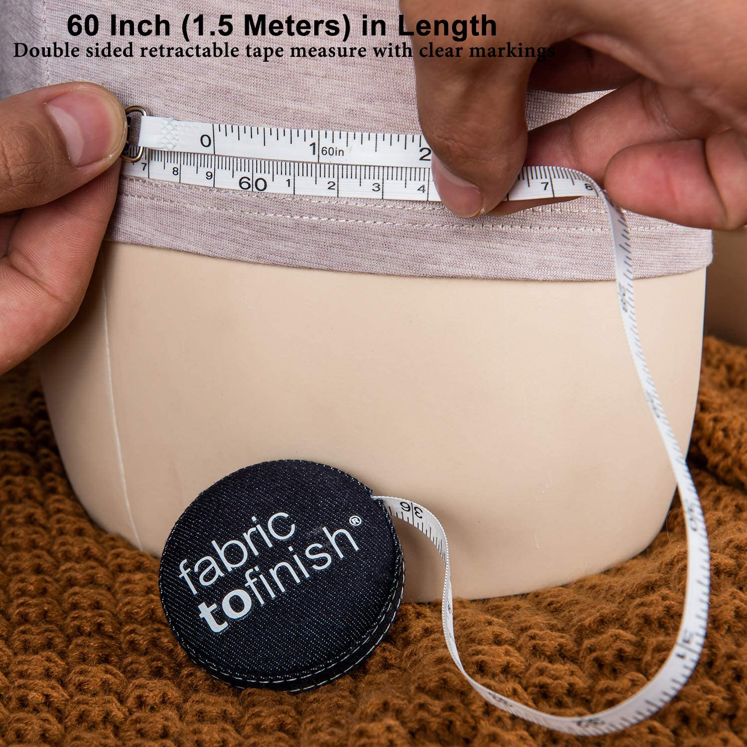 Double-Sided Tailor Cloth Ruler Moligh doll 12 Pack Tape Measure 150cm Push Button Retractable Sewing Measuring Tape for Body