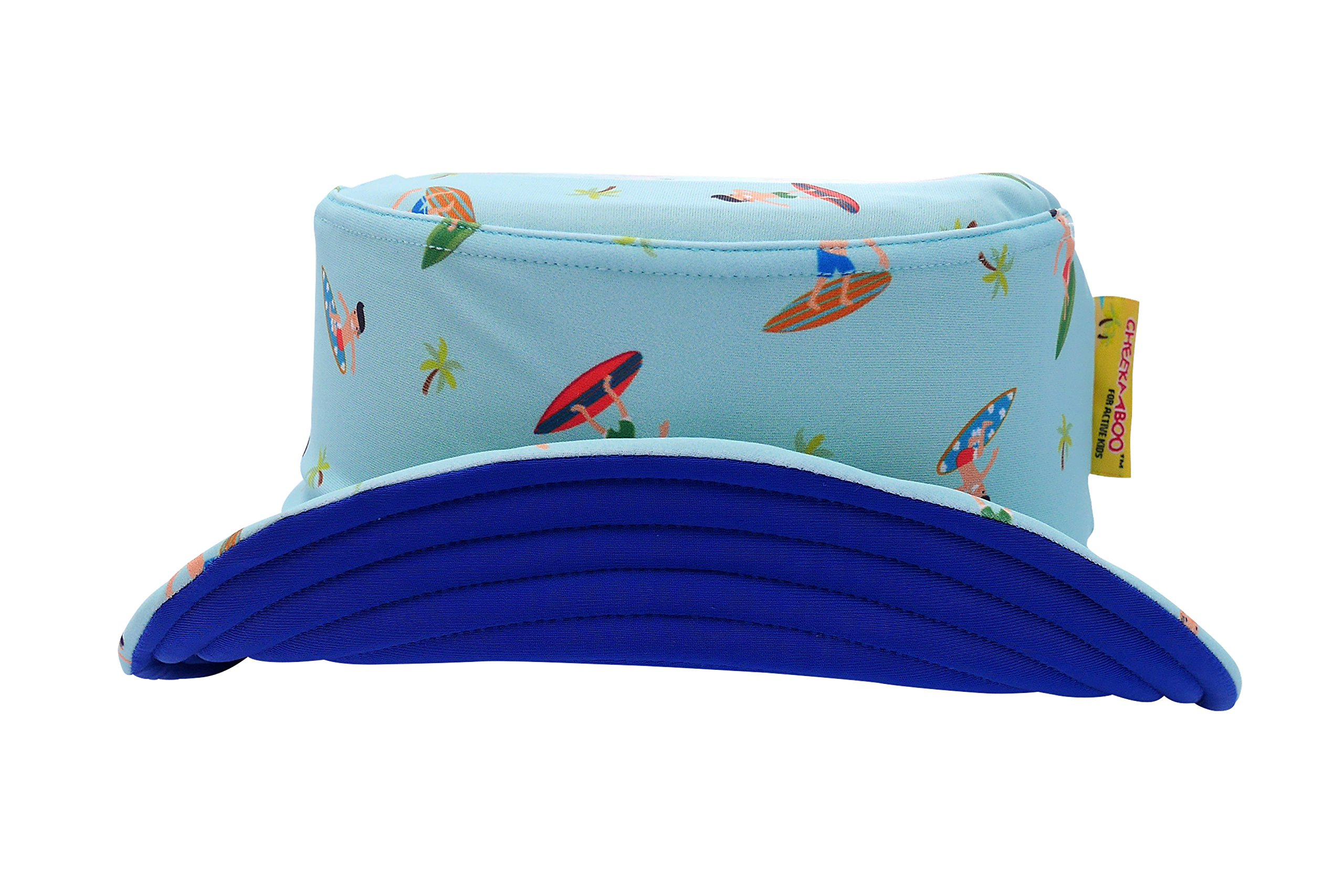 Cheekaaboo Kids & Toddler Reversible Sun Protection Hat for Boys and Girls, Age 2-8, Blue (Navy Blue/Surfers) by Cheekaaboo (Image #2)