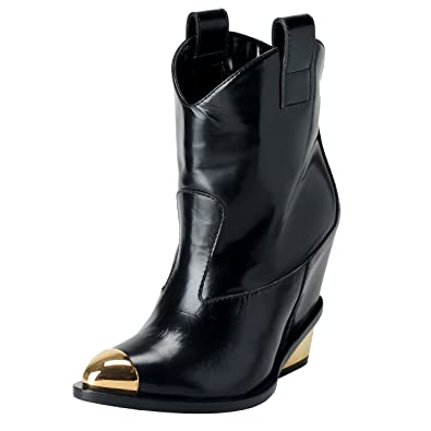 41597200bae0 Giuseppe Zanotti Design Women s Black Cowboy Style Boots Shoes US 4 IT 35