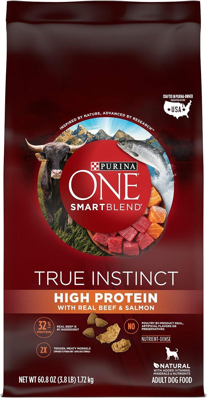 Purina ONE SmartBlend True Instinct Natural High Protein Adult Dry Dog Food & Dog Treats