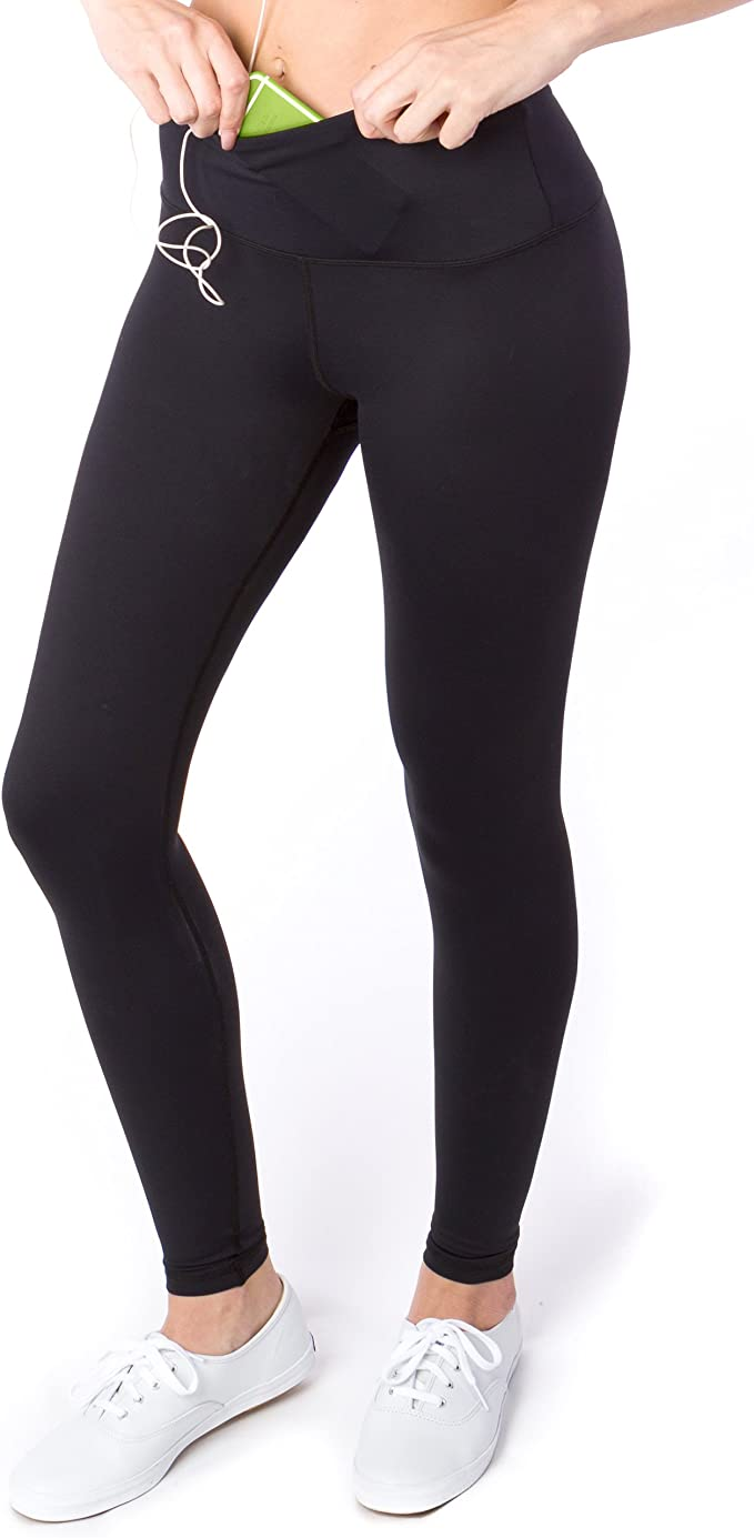 Sport-it Womens High Waisted Yoga Pants with Pockets, Workout Running Leggings Tummy Control, Athletic High Waist Tights