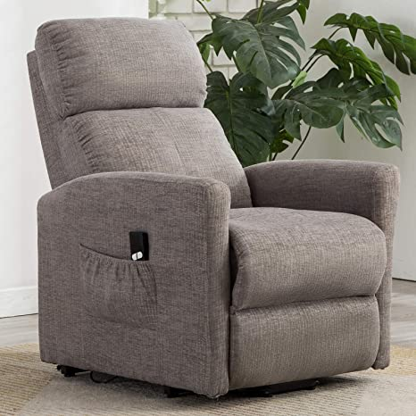 Fine Anj Power Lift Recliner Chair For Elderly With Remote Control Heavy Duty Reclining Sofa Soft Fabric Living Room Chair With Plush Padding Seat Grey Gamerscity Chair Design For Home Gamerscityorg
