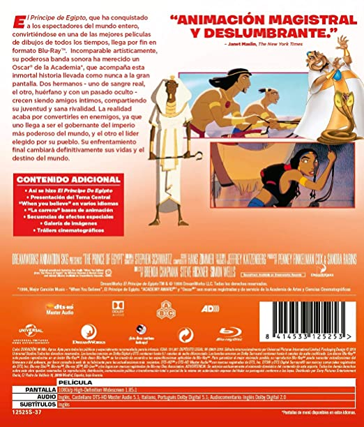 The Prince Of Egypt El Príncipe De Egipto Non Usa Format Movies Tv