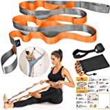 SUMYOUNG Yoga Strap, Stretch Strap with 12 Loops, Nonelastic Stretch Bands for Exercise, Physical Therapy, Pilates, Dance and