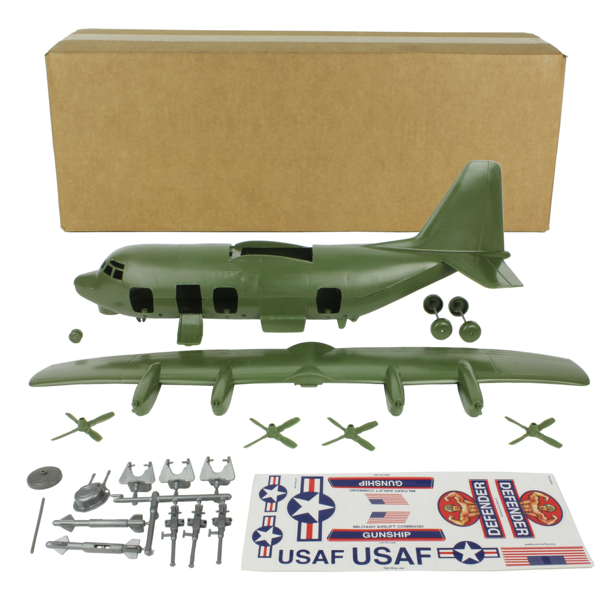 TimMee Plastic Army Men C130 Playset -27pc Giant Military Airplane Made in USA by Tim Mee Toy (Image #3)