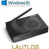 Mini PC - lautlose CSL Narrow Box Ultra HD Storage Line / 120GB M.2 SSD / Win 10 - Silent-PC mit Intel QuadCore CPU 2300MHz, 120GB M.2 SSD + 32GB SSD, 4GB DDR3-RAM, Intel HD, AC WLAN, USB 3.1, HDMI, SD, Bluetooth, Windows 10