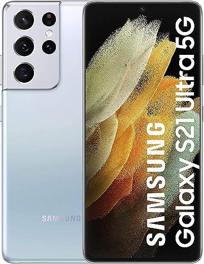 سامسونج جالكسي S21 الترا شريحتين اتصال، 256 جيجا 12 جيجا رام 5G، (إصدار سناب دراون) فانتوم فضي