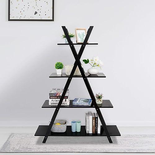 SUPER DEAL 4 Tier Bookshelf Storage Shelves