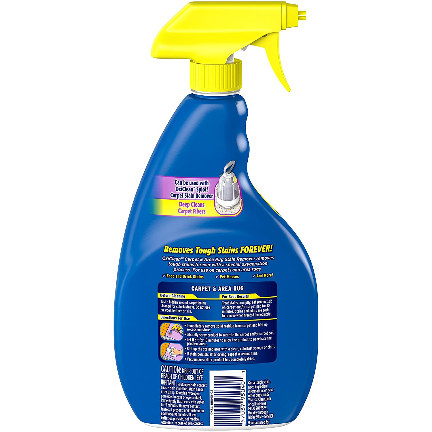 Com Oxiclean Carpet Area Rug Stain Remover Spray 24 Ounce