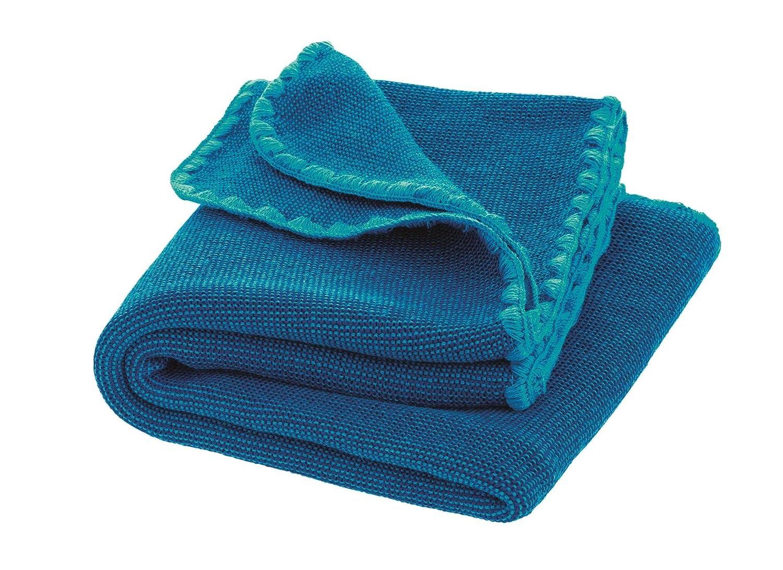 Disana Melange-Babydecke Wolle, Größe  80x100 cm, Grün melange, 80x100 cm B00X6L6RKC Bettbezüge