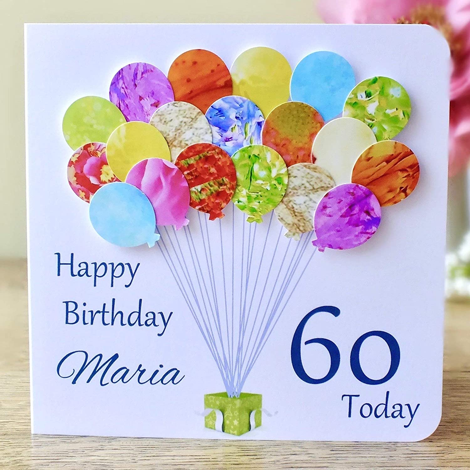 Admirable Personalised Birthday Card Handmade Colourful Balloons Including Funny Birthday Cards Online Sheoxdamsfinfo