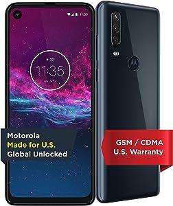 Motorola One Action | Unlocked | Made for US by Motorola | 4/128GB | 16MP Camera | Denim