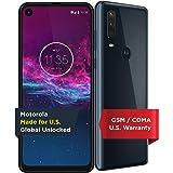 Motorola One Action - Smartphone desbloqueado - Versión global - 128 GB, Fully Unlocked, azul Denim