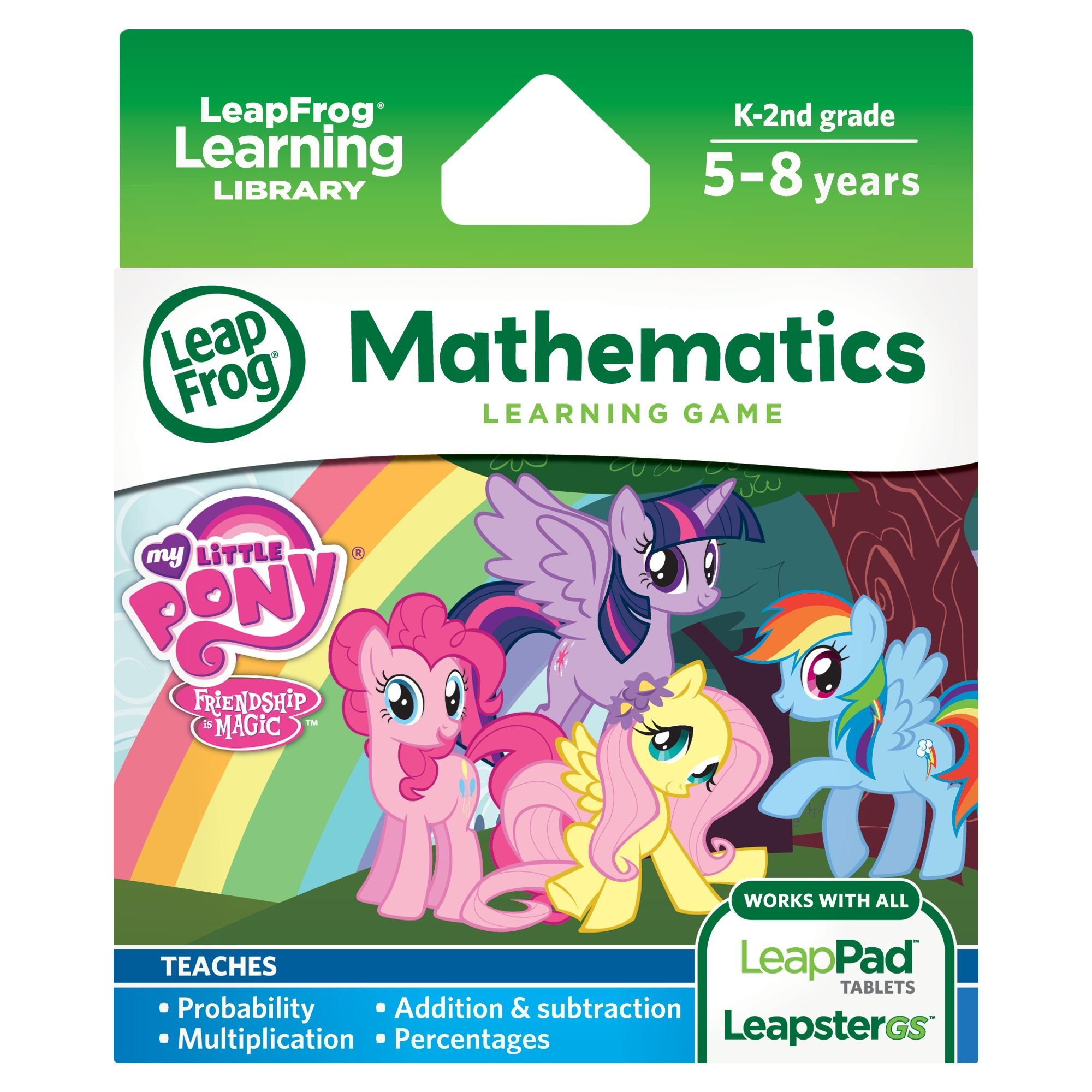 LeapFrog Learning Game: My Little Pony Friendship is Magic(for LeapPad Tablets and LeapsterGS) by LeapFrog