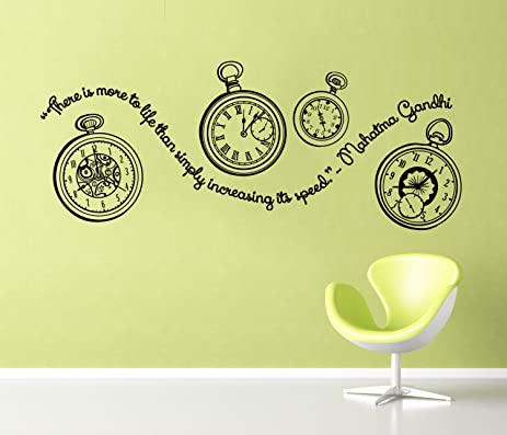 Amazoncom Yingkai Gandhi Quote Pocket Watches Decal With Quote