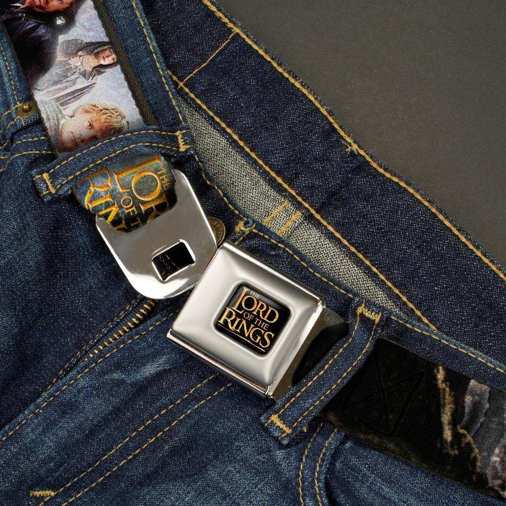 1.5 Wide 32-52 Inches in Length Buckle-Down Seatbelt Belt THE LORD OF THE RINGS Character Scenes
