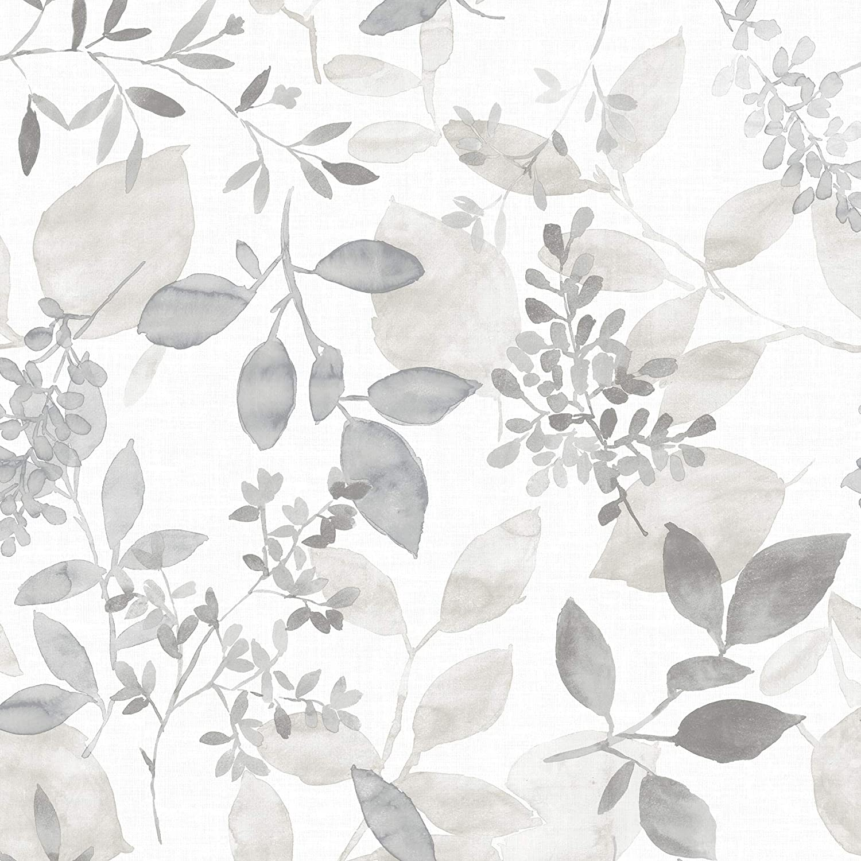 Nuwallpaper Nus3144 Grey Breezy Peel Stick Peel And Stick Wallpaper Amazon Com