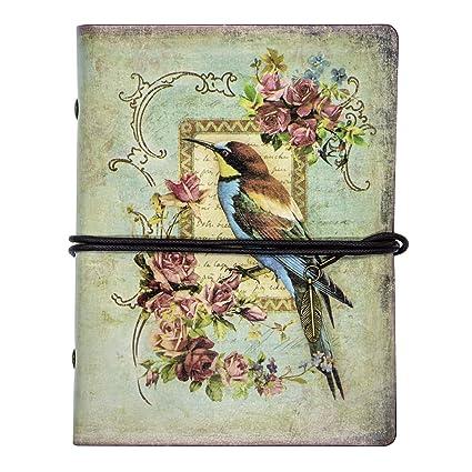 FX Vintage cuero de la secuencia Retro Cuaderno Diario Notebook PU Cubierta Hojas Sueltas Libreta y