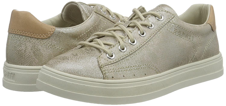 ESPRIT Sidney Beige Lace Up Damen Sneakers Beige Sidney (241 Taupe) 50178f