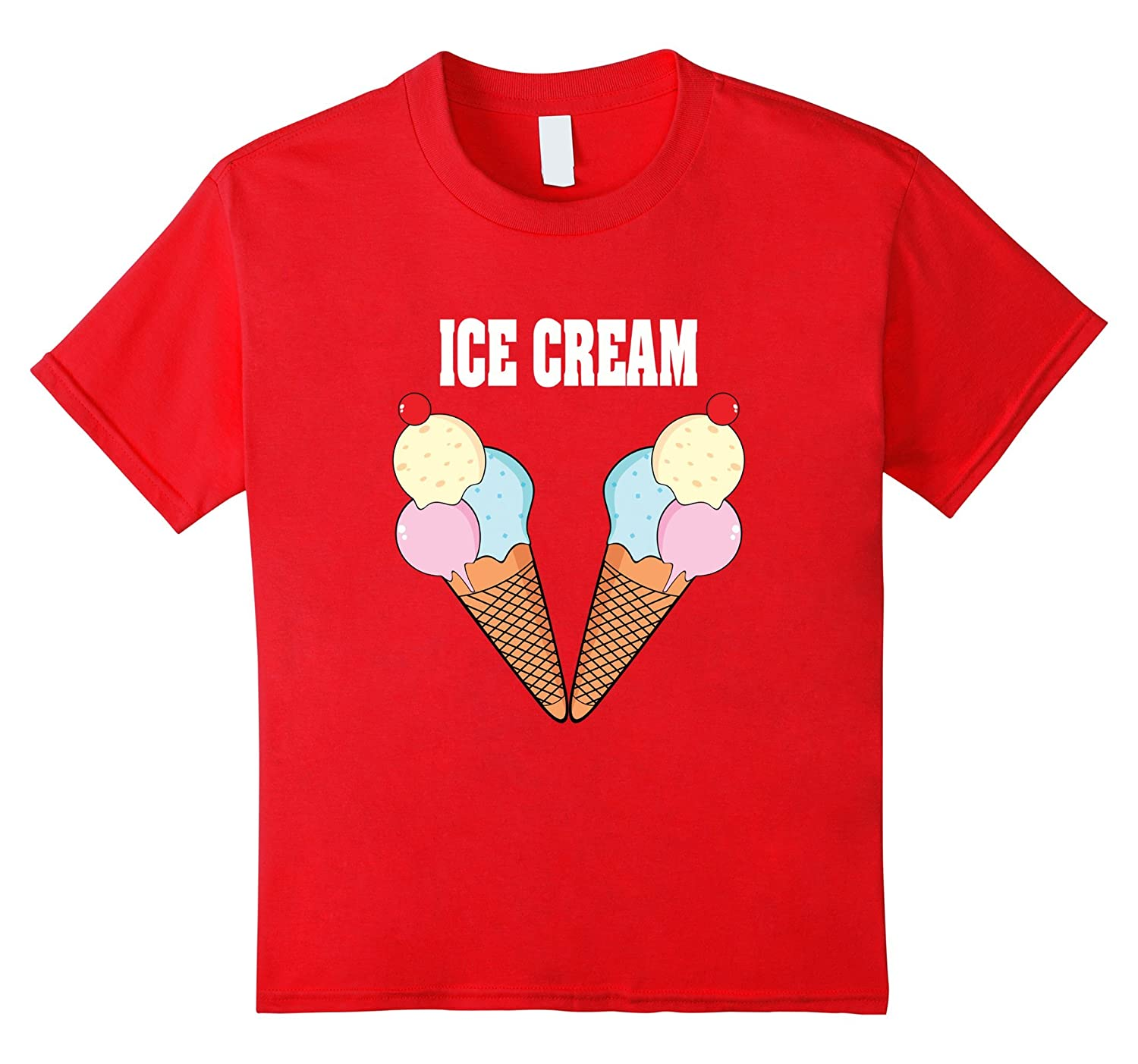 Ice Cream Couples Halloween Costume T-shirt Cake & Ice Cream