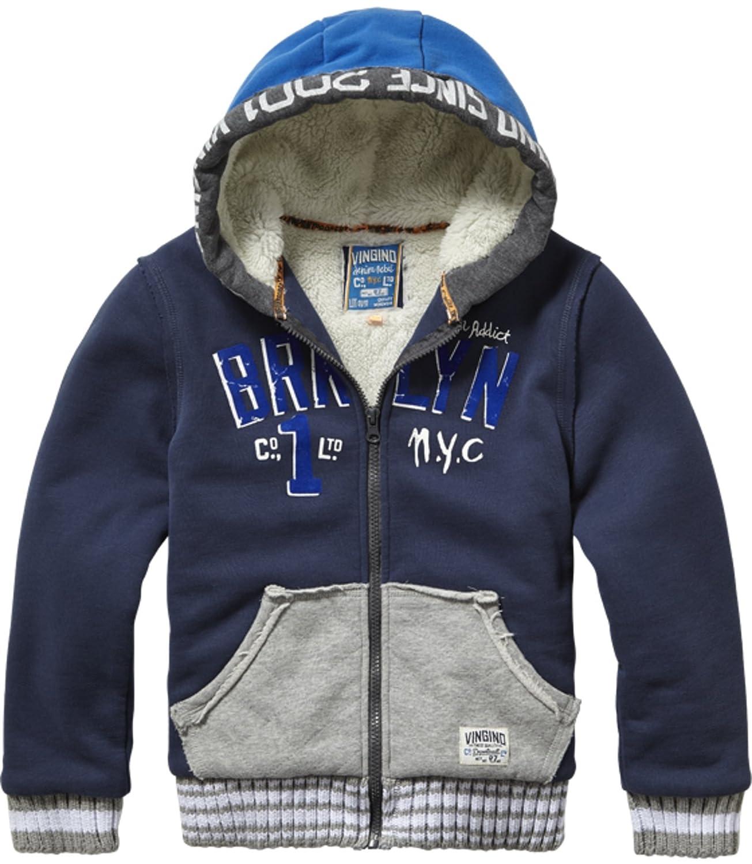 Vingino Terrell Jungen Sweatjacke mit Teddyfell dark blue NB1630052