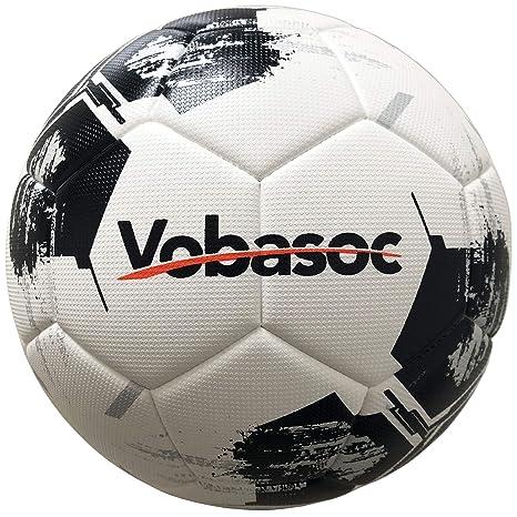 Vobasoc Fußbälle #5 Trainingsbälle,Turnierball Standart,Erwachsene,Kinder,Rautenmuster,Hochelastischer PU wärmeverbindung Fuß