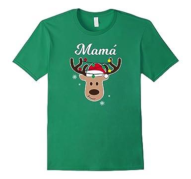 Mens Renos De Navidad Pijamas Navidad Familiar Mama Shirt 2XL Kelly Green