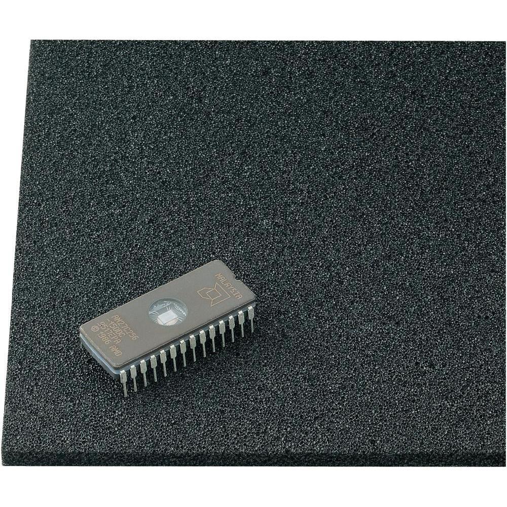 Mousse antistatique Wolfgang Warmbier 4550.06.0300 (L x l x h) 300 x 300 x 6 mm noir 1 pc(s)