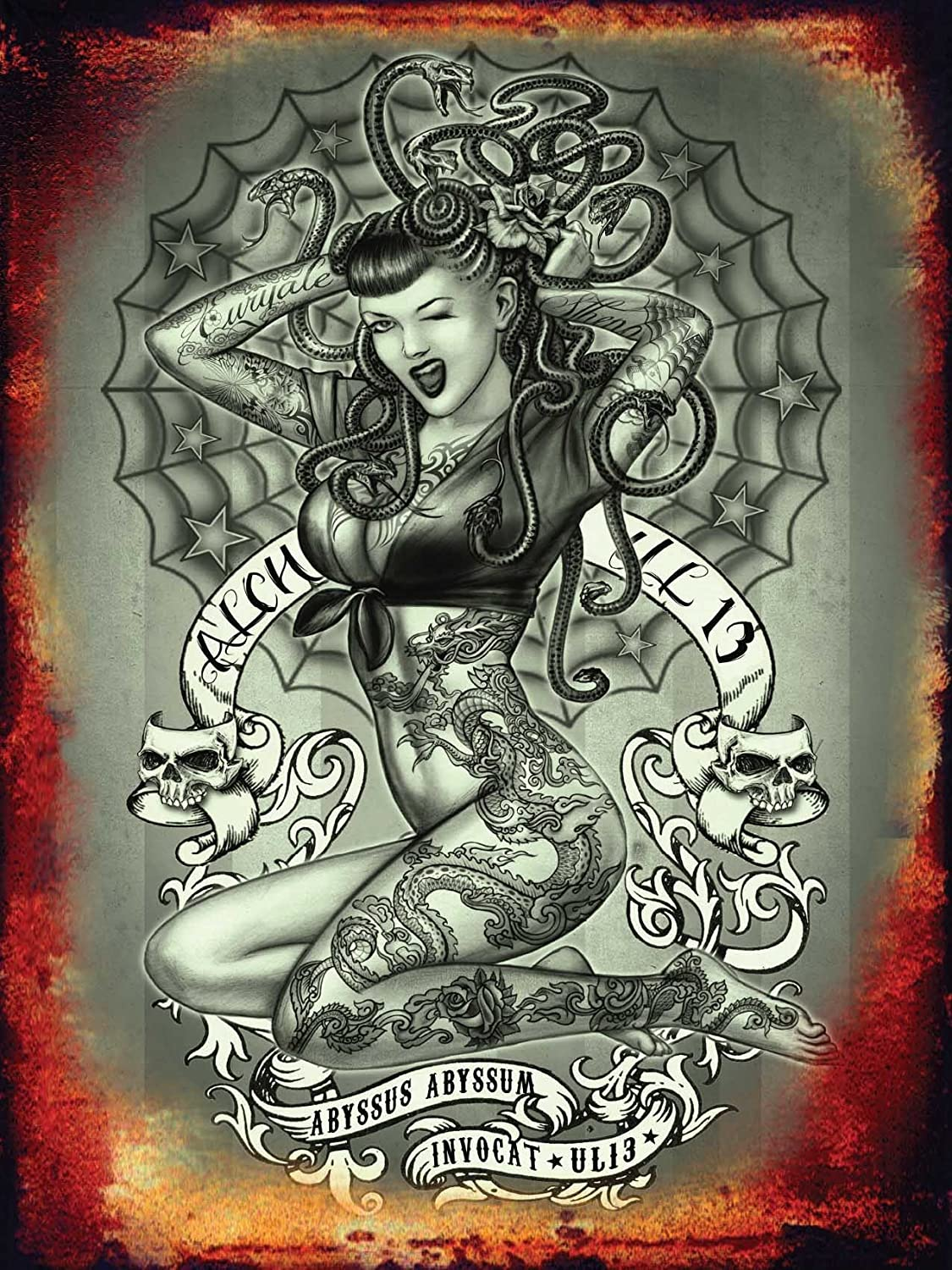 Tattoo If looks could kill Cartel de Chapa Placa metal ...