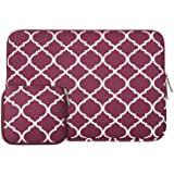 MOSISO Laptop Sleeve, Quadrifoglio Stile Canvas Custodia Borsa Copertina per 13-13,3 Pollici MacBook Pro, MacBook Air, Notebook con un Piccolo Caso, Vino Rosso