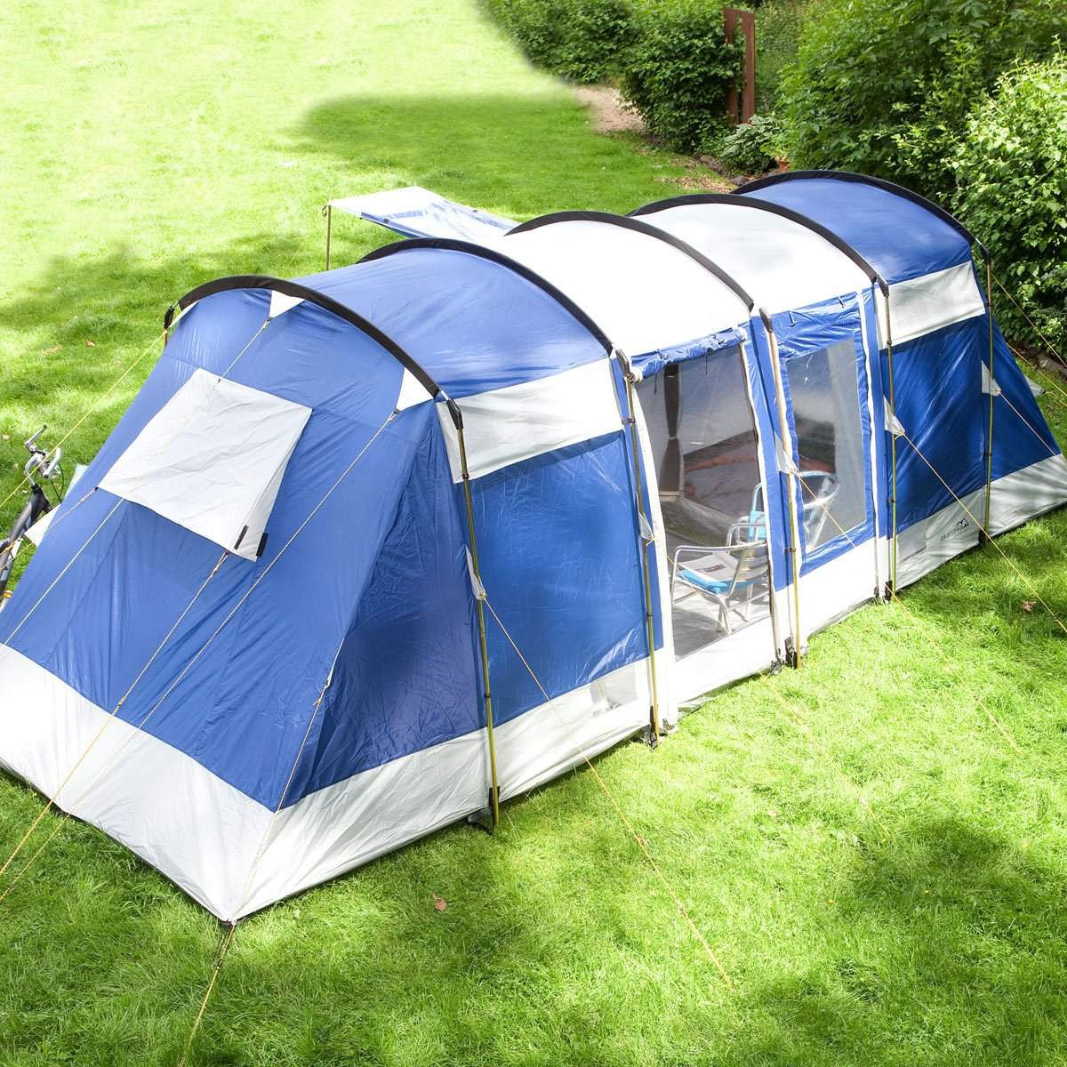 Skandika Montana Family Group Tunnel Tent with Sun Canopy 2 Sleeping Cabins 200 cm Peak Height 5000 mm Water Column Blue 6-Person Amazon.co.uk Sports ... & Skandika Montana Family Group Tunnel Tent with Sun Canopy 2 ...