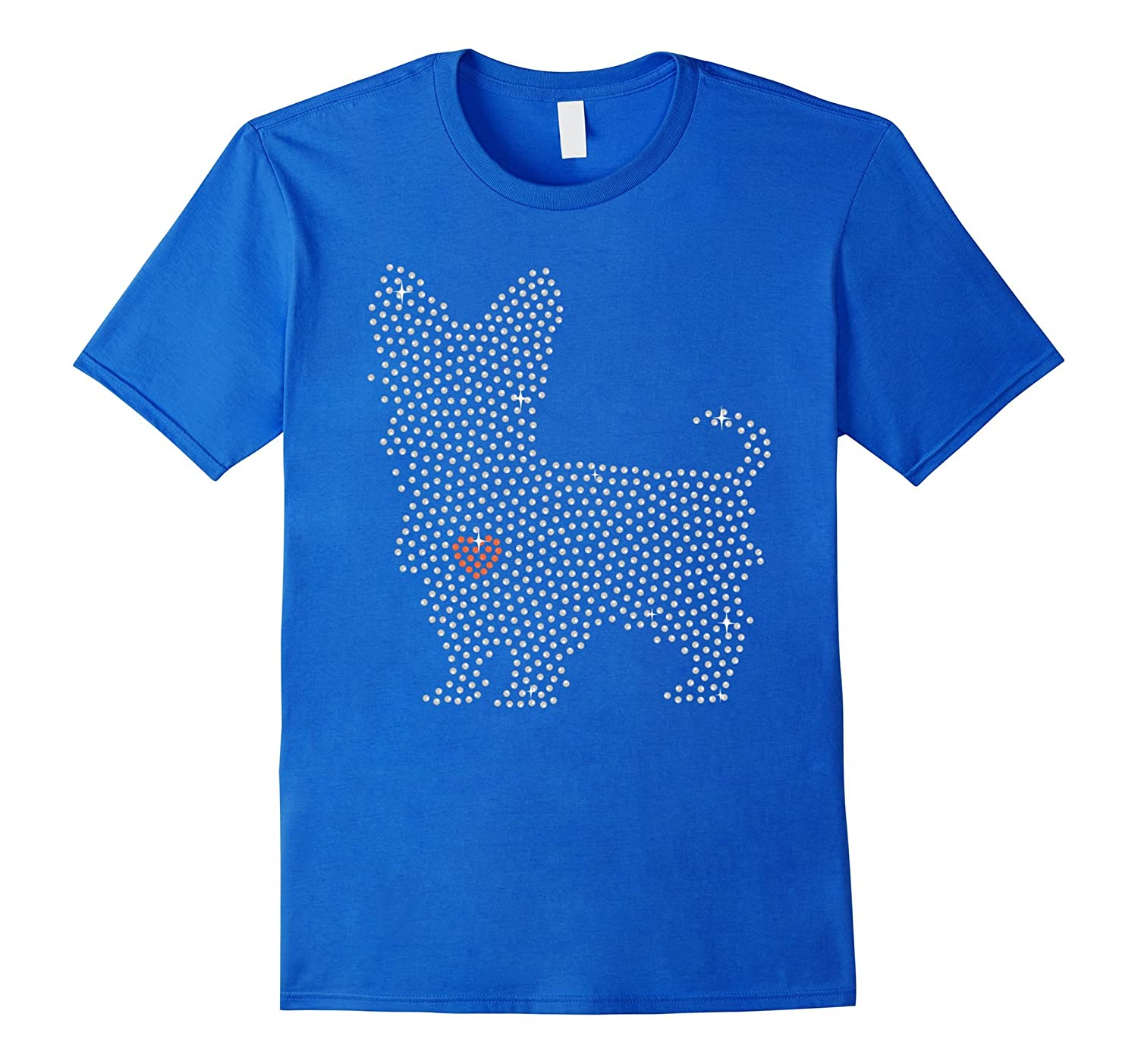 Yorkie tshirt i love my Yorkie with hearts-TH