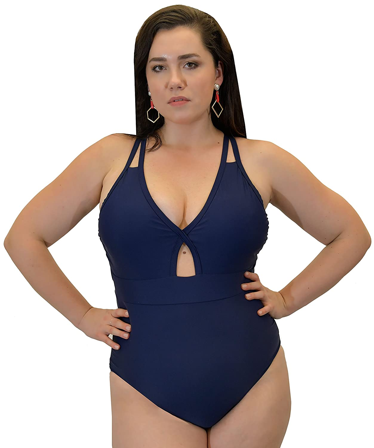 b992e09a05a0d One piece  Who says one-piece bathing suits can t be sexy  Flaunt your  voluptuous curves with a flattering swimsuit that accentuates your full  figure.