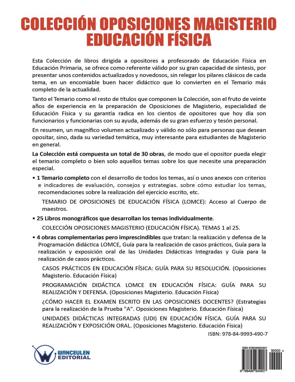 Colección Oposiciones Magisterio Educación Física. Tema 19 ...