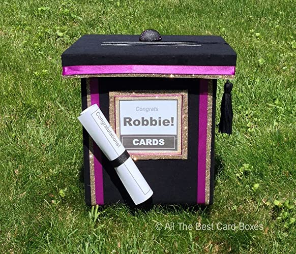 Amazon Com Graduation Cap Card Box Pick Your Ribbon Trim Colors