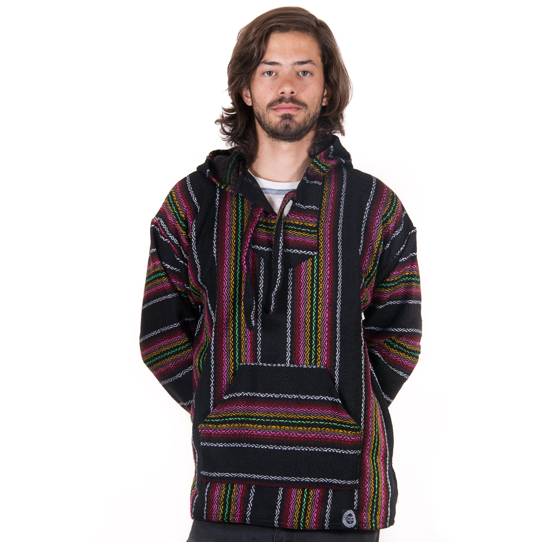 Orizaba Original Drug Rug - Black Pink Red Yellow Green Diamond - Manasquan 2XL