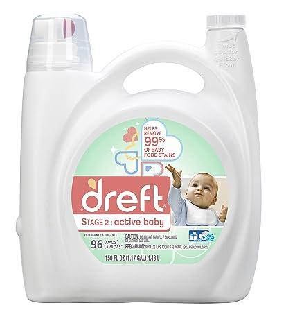 Dreft Etapa 2: Detergente líquido activo para la colada del bebé (HE),