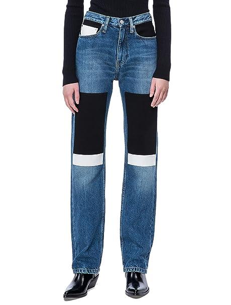 Calvin Klein Women s CKJ 030 High Rise Straight Fit Jean  Amazon.ca ... b3ed37141b