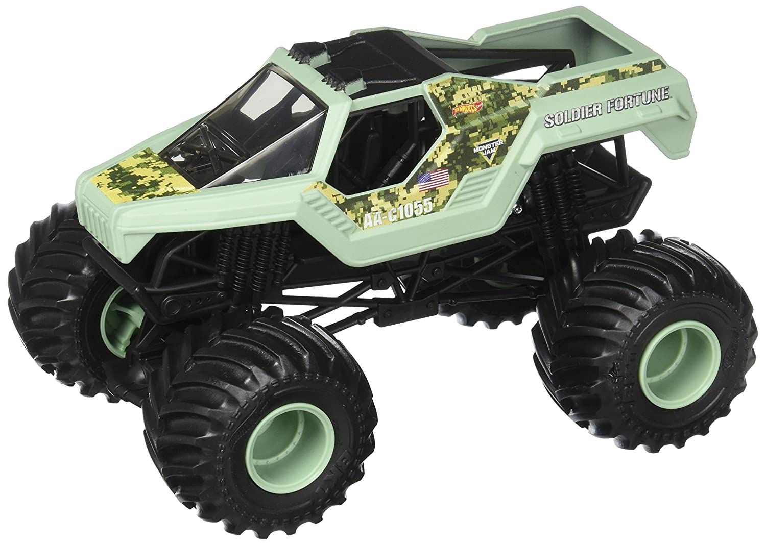 Hot Wheels Monster Jam Soldier Fortune Vehicle 1 24 Scale