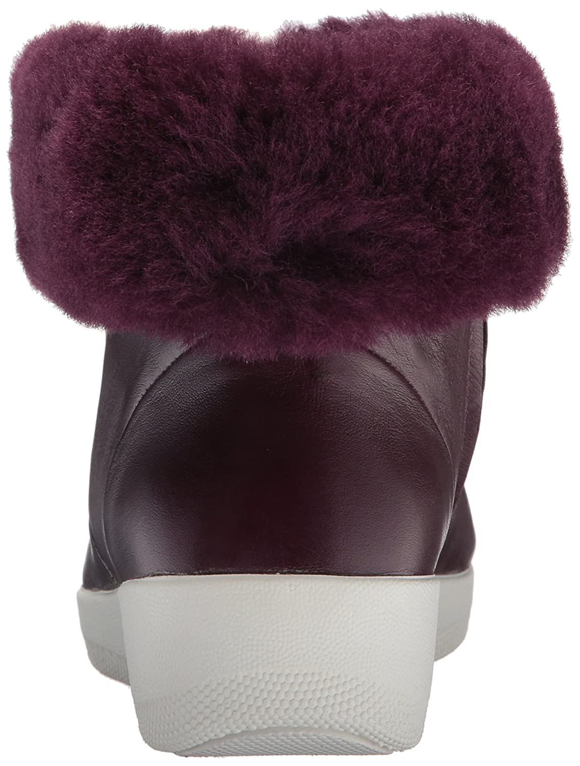 FitFlop Women's 8.5 Skatebootie Leather Shearling Ankle Boot B0764LYW9C 8.5 Women's B(M) US|Deep Plum 908df4