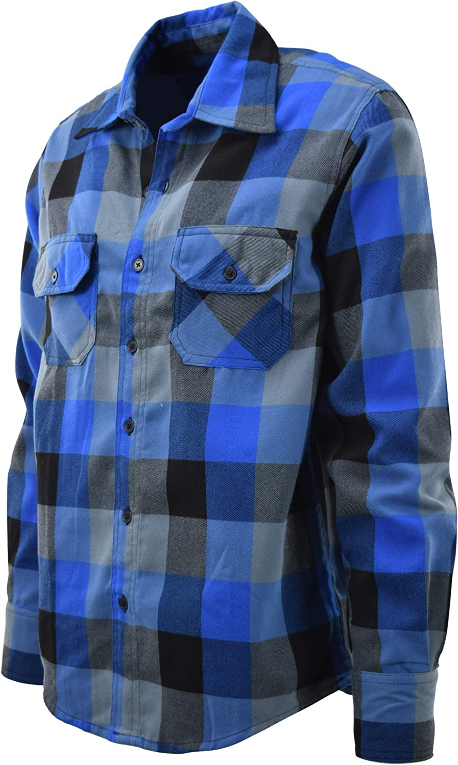 ChoiceApparel Mens Soft and Durable Button Down Flannel Long Sleeve Shirts Many Patterns and Colors