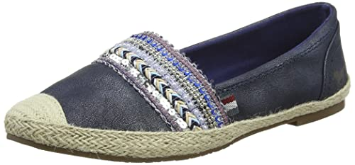 Mustang Sequins and Studded Espadrille Mujeres Zapatos Alpargata: Amazon.es: Zapatos y complementos