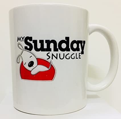 buy sniggle white sunday coffee mug for pet dog lovers online at