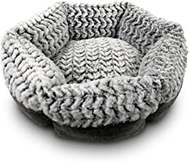 Pet Craft Supply Co. Round Machine Washable Memory Foam Comfortable Ultra Soft All Season Cat and Small Dog Bed